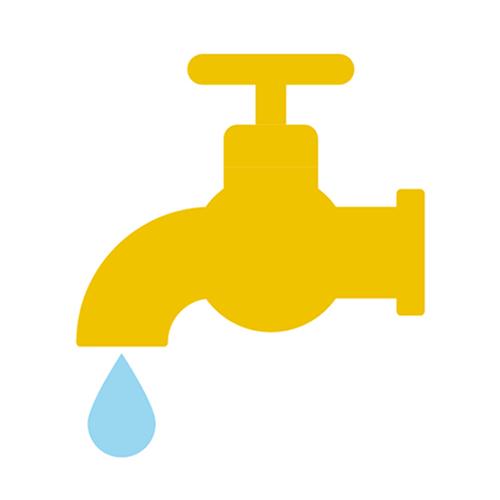 Vesihanaa ja puhdasta vettä kuvaava ikoni.