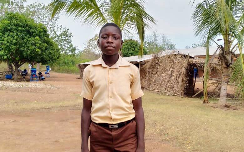 Ghanalainen Cephas, 13, haluaa lopettaa kuukautisiin liittyvän häpeän ja syrjinnän kulttuurin.
