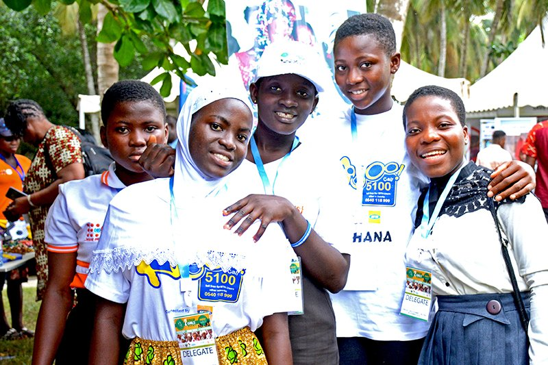 Ryhmä ghanalaisia nuoria.