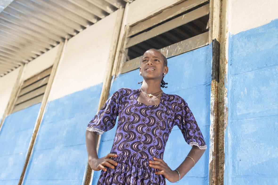 Yekaba, tyttö Pohjois-Etiopiasta