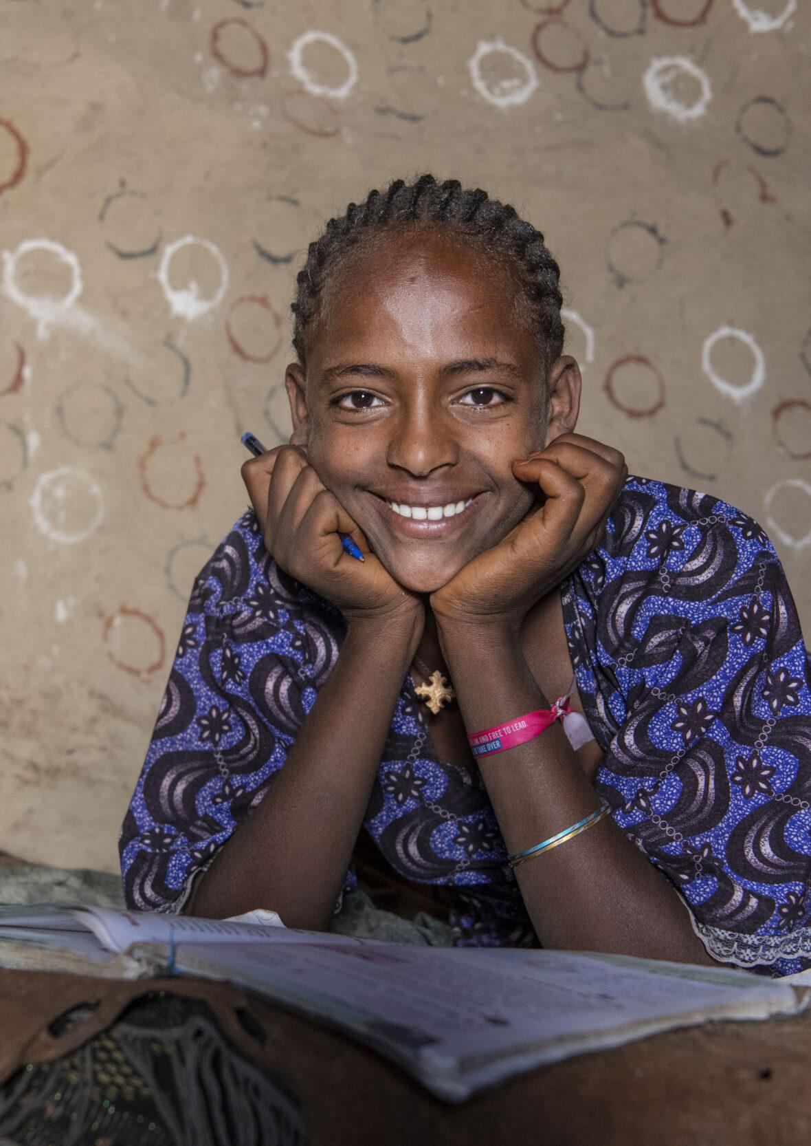 Tyttö Etiopiasta