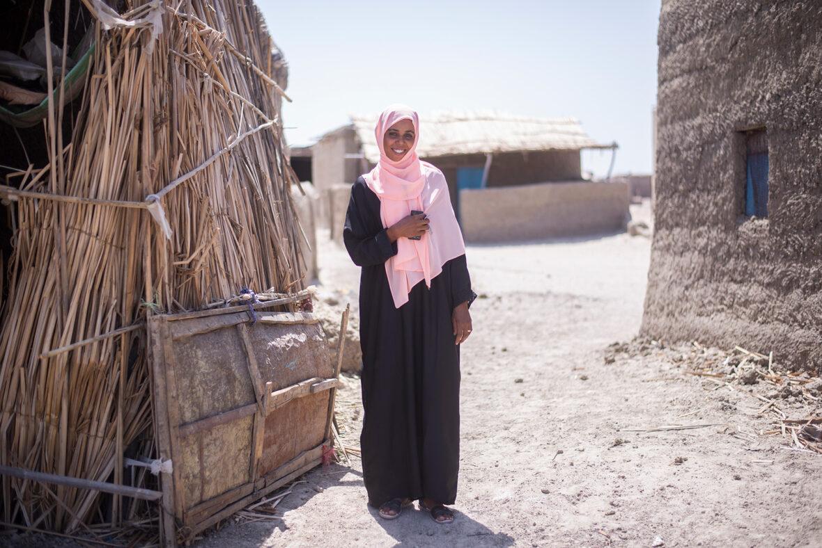 Shadia tekee yhteistyötä Planin kanssa estääkseen vanhempia silpomasta tyttäriään